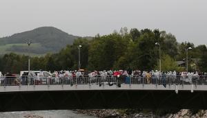 Immigrants at Austrian-German Border
