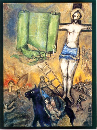 "Marc Chagall's ""Yellow Crucifixion,"" which hung on Jürgen Moltmann's wall as he wrote The Crucified God."