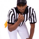 Football ref with whistle