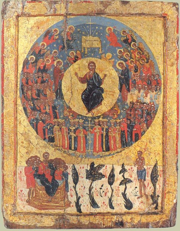 Greek icon of the Second Coming, c. 1700; https://upload.wikimedia.org/wikipedia/commons/f/fd/Icon_second_coming.jpg