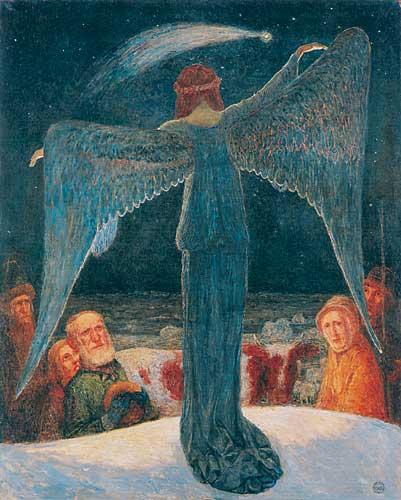 Heinrich_Vogeler_Verkündigung_an_die_Hirten_1902