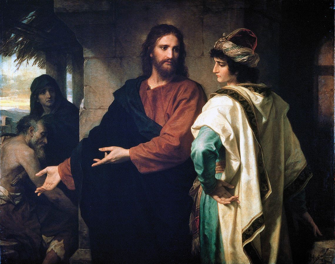 Heinrich Hofmann, Christ and the Rich Young Ruler.