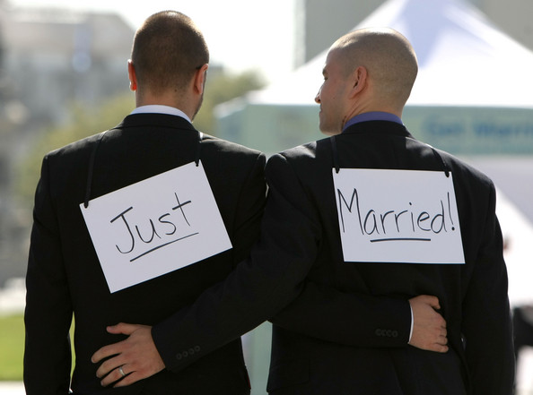 Gay-Marriage-just-married.jpg: www.patheos.com/blogs/unequallyyoked/2013/01/yes-i-am-in-favor-of...
