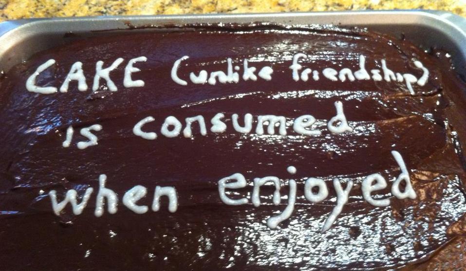 friend cake