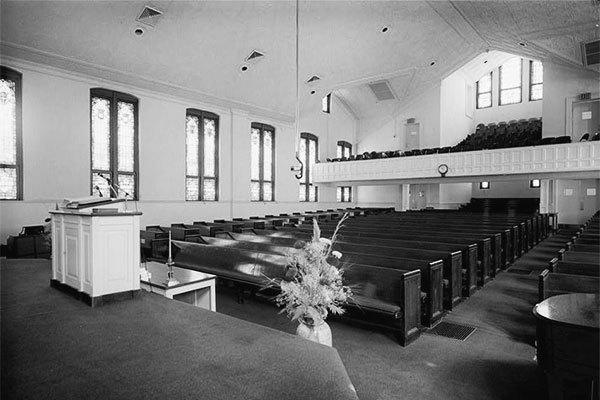 Ebenezer Baptist Church, Atlanta, GA, the church where Martin Luther King Sr. and Jr. preached. Via Wikimedia Commons
