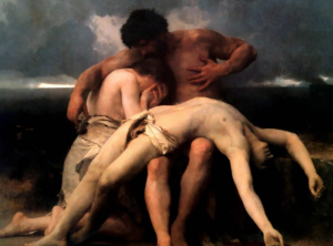 """Image source: """"The First Mourning (Adam and Eve mourn the death of Abel)"""" by William-Adolphe Bouguereau, 1888; public domain."""