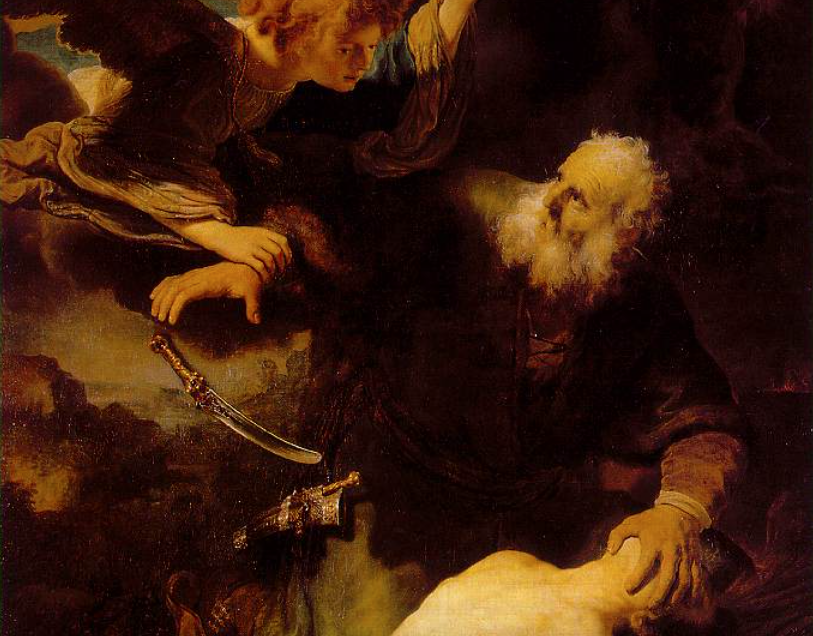 """Rembrandt, """"Abraham and Isaac,"""" 1634, public domain."""