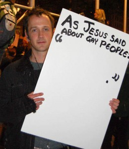 as jesus said about gay people sign