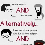 there are good christians and bad christians. good muslims and evil muslims. there are ethical people who live without religion. and evil people who live without religion. religion does not always correlate with ethics. get over it.