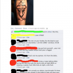 only god can judge tattoo
