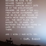 carl sagan on mars