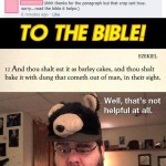 to the bible