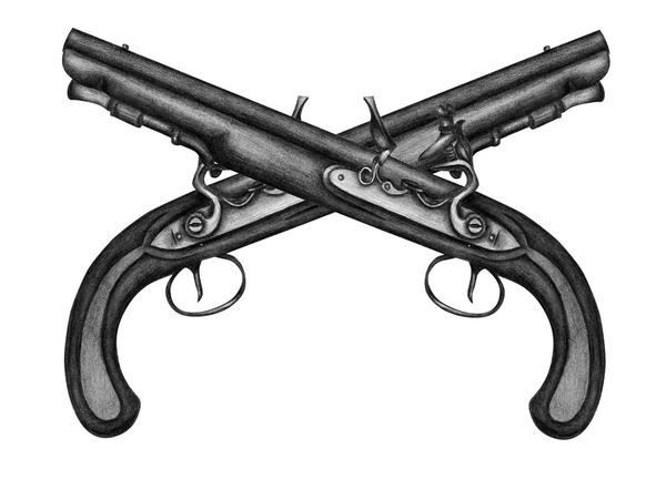 crossed pistols - Unreasonable Faith