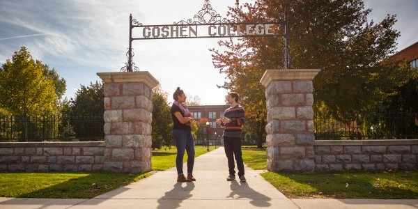 Goshen College Gate, Image by Goshen College