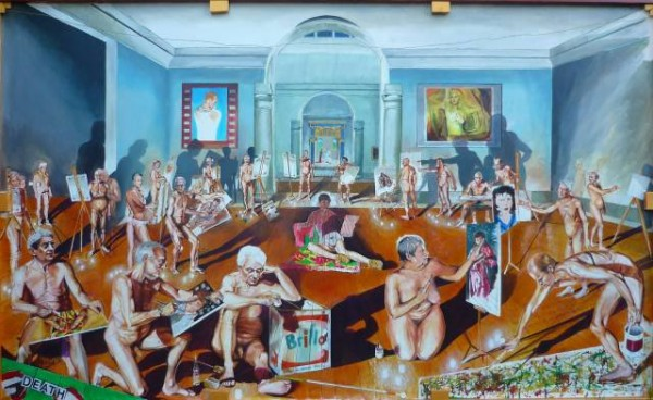 """The School of Postmodernism"" By Vittorio Pelosi - Own work, Public Domain, via WikiCommons"