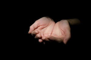 Outstretched Cupped Hands by George Hodan