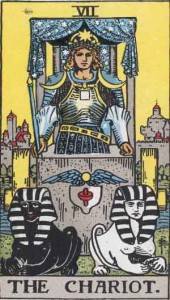 The Chariot Tarot Card - Image via Wikipedia, public domain