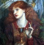 """The Damsel of the Sanct Grael"" or ""Holy Grail"" by Dante Gabriel Rossetti (1874)"