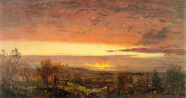 """Sunrise"" by Fredric Edwin Church.  From WikiMedia."