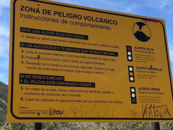 Volcano warning
