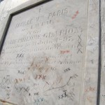 Marie Laveau's tomb detail, before the damage and questionable restoration. Photo by Lilith Dorsey.