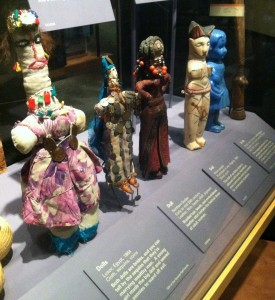 Collection of African Dolls on display at the Smithsonian Museum of Natural History. Photo by Lilith Dorsey, 2014 all rights reserved.