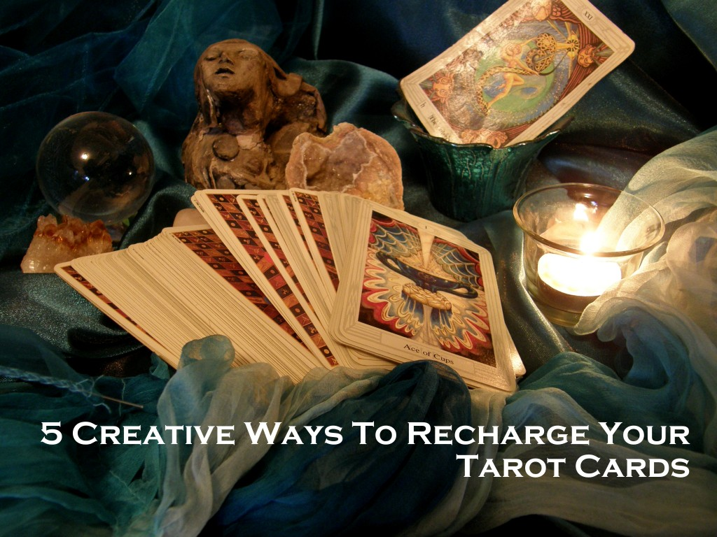 Creative Ways to Recharge your tarot cards photo by Lilith Dorsey, all rights reserved.