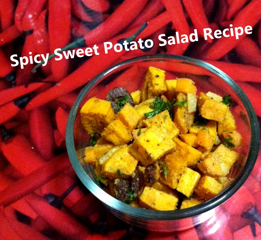 Spicy Sweet Potato Salad recipe. Photo by Lilith Dorsey.