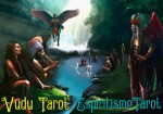 Vudu Tarot and Espiritismo Tarot poster by Monroe Rodriguez Singh. All rights reserved.