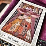 Thoth deck the Lovers card photo by Lilith Dorsey. All rights reserved.