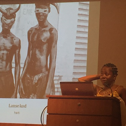 J'Ouvert lecture with Dr. Dale Byam photo by Lilith Dorsey. All rights reserved.