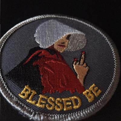 Lady Parts Justice League Blessed Be patch photo by Lilith Dorsey. All rights reserved.