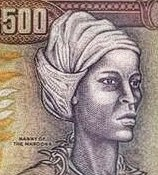 Queen Nanny on the 500 dollar bill of Jamaica. Photo by Lilith Dorsey. All rights reserved.