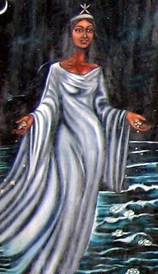 Yemaya image from Wikimedia commons. Licensed under CC 2.5