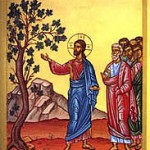 Byzantine icon of the fig tree parable