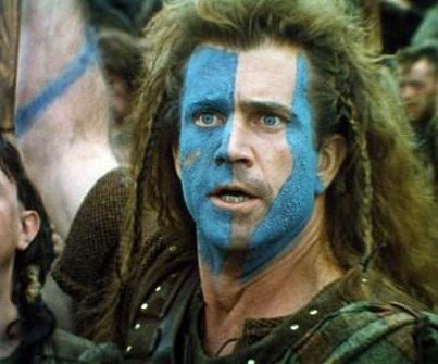 Mel Gibson Face Paint