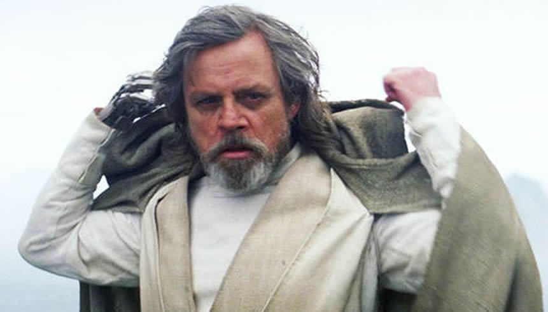 Mark Hamill in The Last Jedi, courtesy Disney
