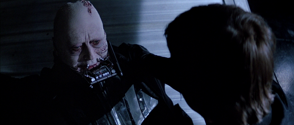 Sebastian Shaw and Mark Hamill in Return of the Jedi, courtesy 20th Century Fox