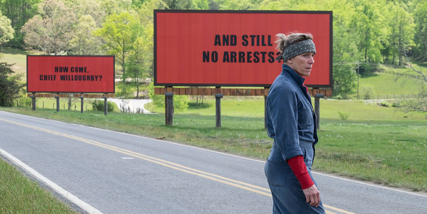 Frances McDormand in Three Billboards Outside Ebbing, Missouri, photo courtesy Fox Searchlight