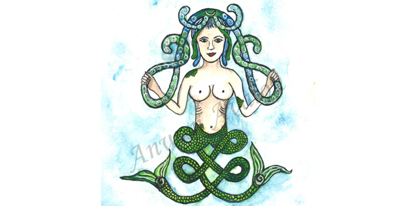 Melusine- Original Art by Annwyn