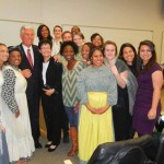 President Dieter and Sister Harriet Uchtdorf with members of the _I Am Jane_ cast
