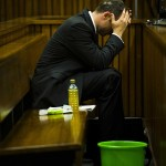 Pistorius's vomit bucket at the ready.