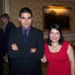 "My ""little"" brother Paul and me at a friend's wedding in 2008."