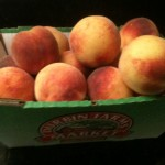 My favorites--fresh peaches!