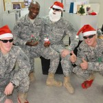Indiana National Guard soldiers spread cheer. Photo: National Guard