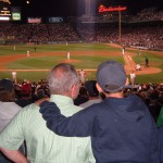 Papa and Christopher at Fenway Park in 2004