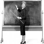 WomanBy Blackboard