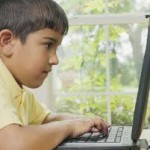 kid in front of computer