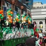 More than 100 St. Patrick's Day parades are held across the United States; New York City and Boston are home to the largest celebrations.
