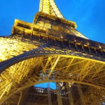 The Eiffel Tower on 9/9 as I stood under it!